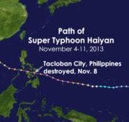 Typhoon Haiyan path map