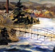 """The Sacandaga River Bridge"" painting by Tom Ryan (photo courtesy of Tom Ryan)"