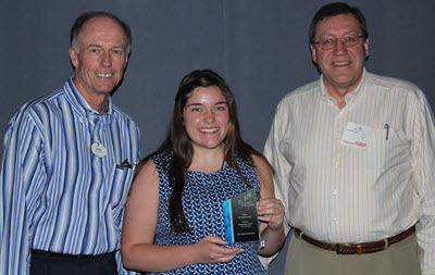 Morgan DiCarlo accepts her award for Best Student Innovation.