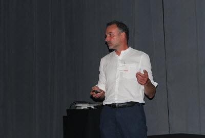 """Martin Voorma presents his """"Smartline"""" idea."""