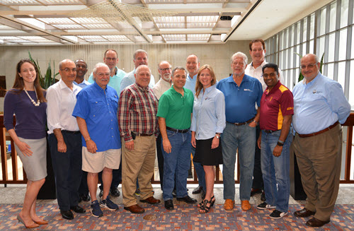 A group of UESI Board of Governors and Pipelines leaders gather at the recent Pipelines Conference.