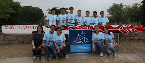The 2014 Tongji Concrete Canoe qualified for the national competition.