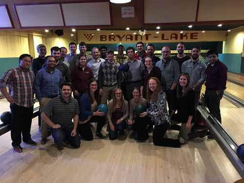 The Minnesota Section had a great turnout for its recent bowling night. Photo: Minnesota Section
