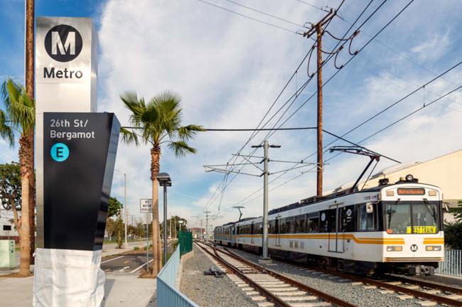 LA Expo Phase 2 Light Rail Photo 2