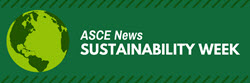 ASCE News Sustainability Week tab