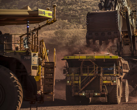 Autonomous trucks already play a key role in mining. PHOTO: Mark Sprouls/Caterpillar