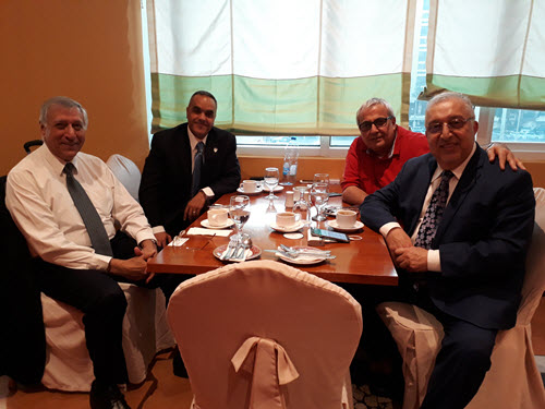 University of Illinois at Chicago professor Mustafa Mahamid recently visited the UAE Section officers.PHOTO: Elias Sayah