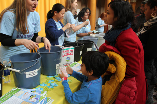 The American Institute of Chemical Engineers helps kids create their very own slime.