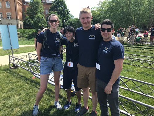 The University of Michigan Student Chapter's Steel Bridge team on Display Day. PHOTO: Jill Simonson/ASCE Foundation