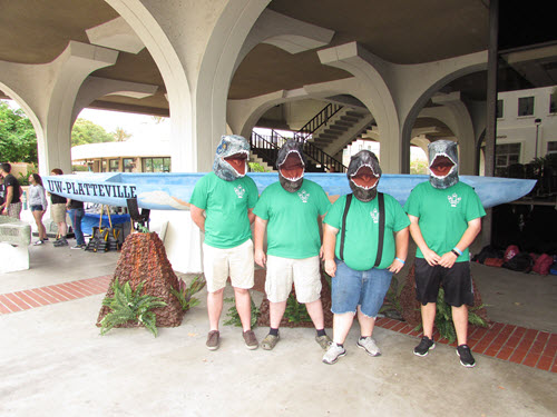 Members of the University of Wisconsin-Platteville team seem to be taking their Concreature theme literally. PHOTO: ASCE Foundation