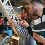 AUB Students Build Popsicle Bridges