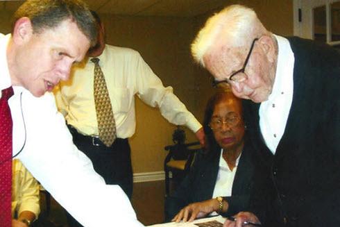 Richard Woodruff celebrates his 100th birthday.