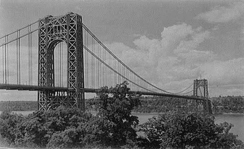 Vintage photo of the George Washington Bridge