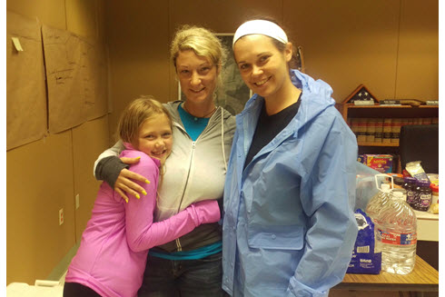 Texas Section Second Year Director-at-Large Kate Osborn with daughter and day care operator
