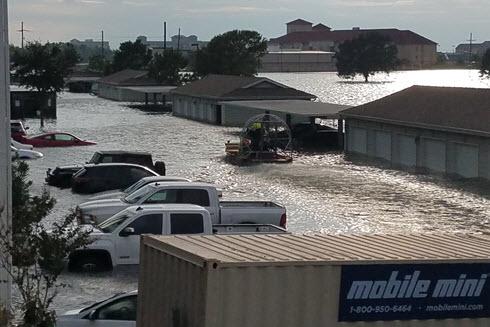 Hurricane Harvey left Port Arthur, TX, under water.