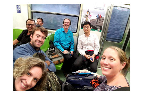 IRD team travels via subway to its next meeting in Mexico.