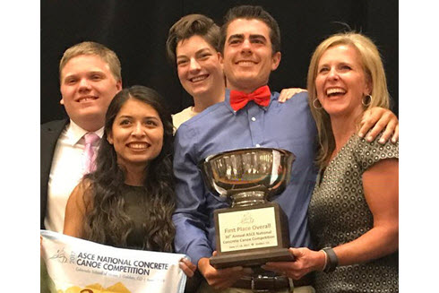 Cal Poly SLO team holds trophy.