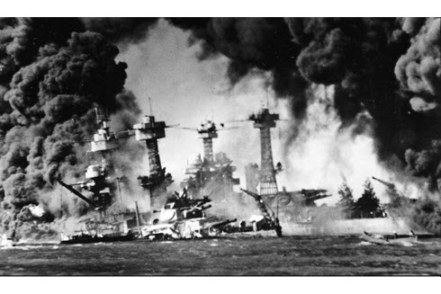 photo of Battleship Row, 1941