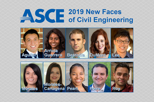 Headshots of 2019 New Faces of Civil Engineering