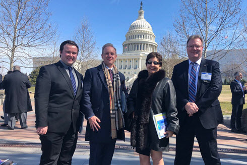 ASCE Members in front of congress