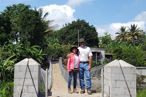 Jeanny and Mike at the new San Antonio Bridge.