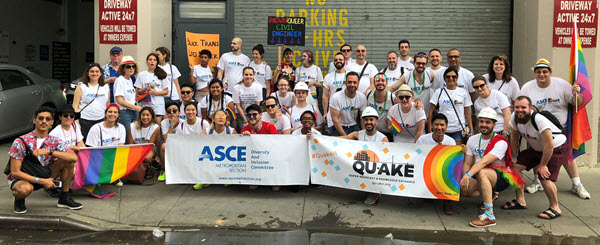 ASCE's Met Section and Qu-AKE show their pride