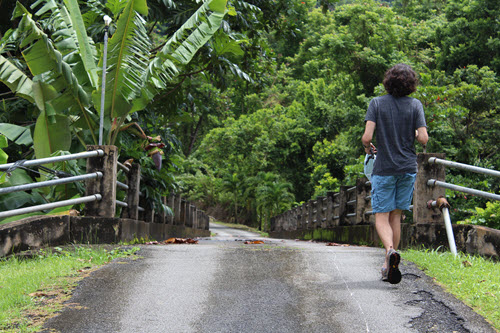 student in community in Puerto Rico