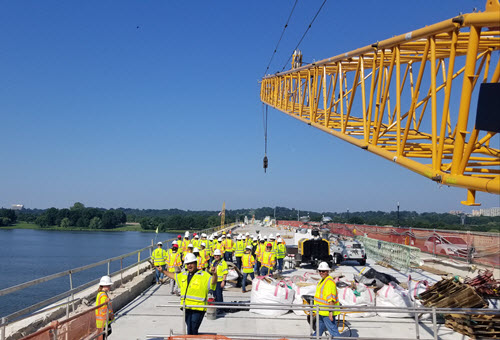 Technical tour of the Arlington Memorial Bridge
