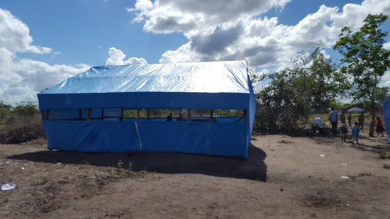 photo of tent structure
