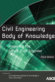 """cover art for """"Civil Engineering Body of Knowledge"""""""