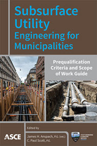 """cover art for """"Subsurface Utility Engineering for Municipalities"""""""
