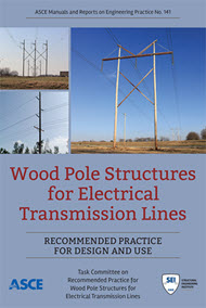 """cover art for """"Wood Pole Structures for Electrical Transmission Lines"""""""