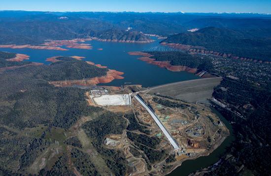 Aerial photo Oroville Dam, California