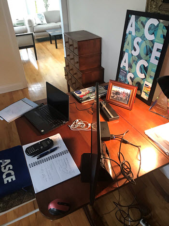 photo of Sophie Lipomanis' home office