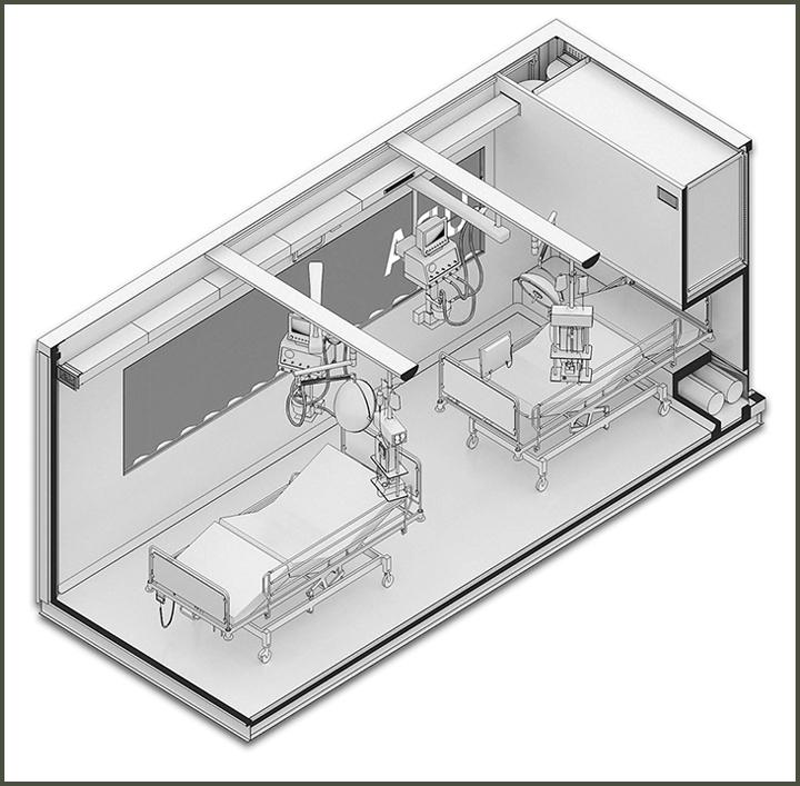 rendering of CURA pod
