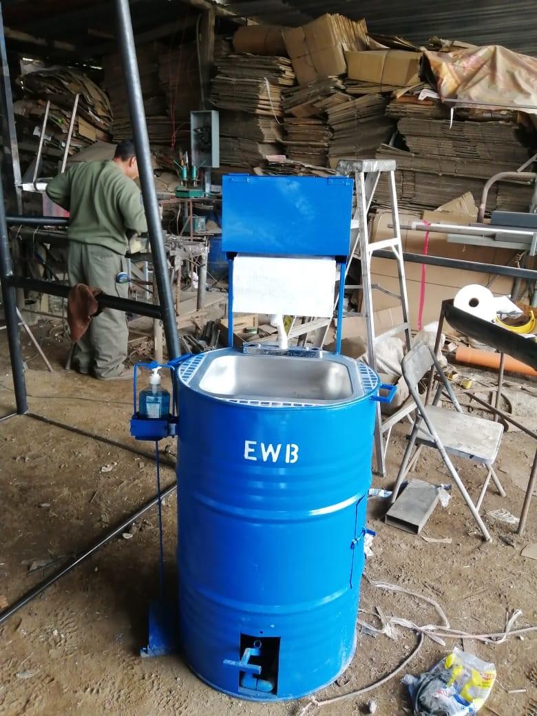 photo of a handwashing station
