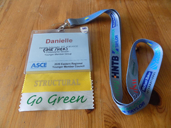 photo of Danielle Schroder's name badge
