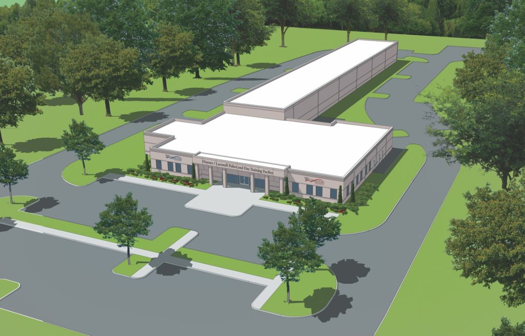 rendering of the future Haynes/Lacewell Police and Fire Training Facility