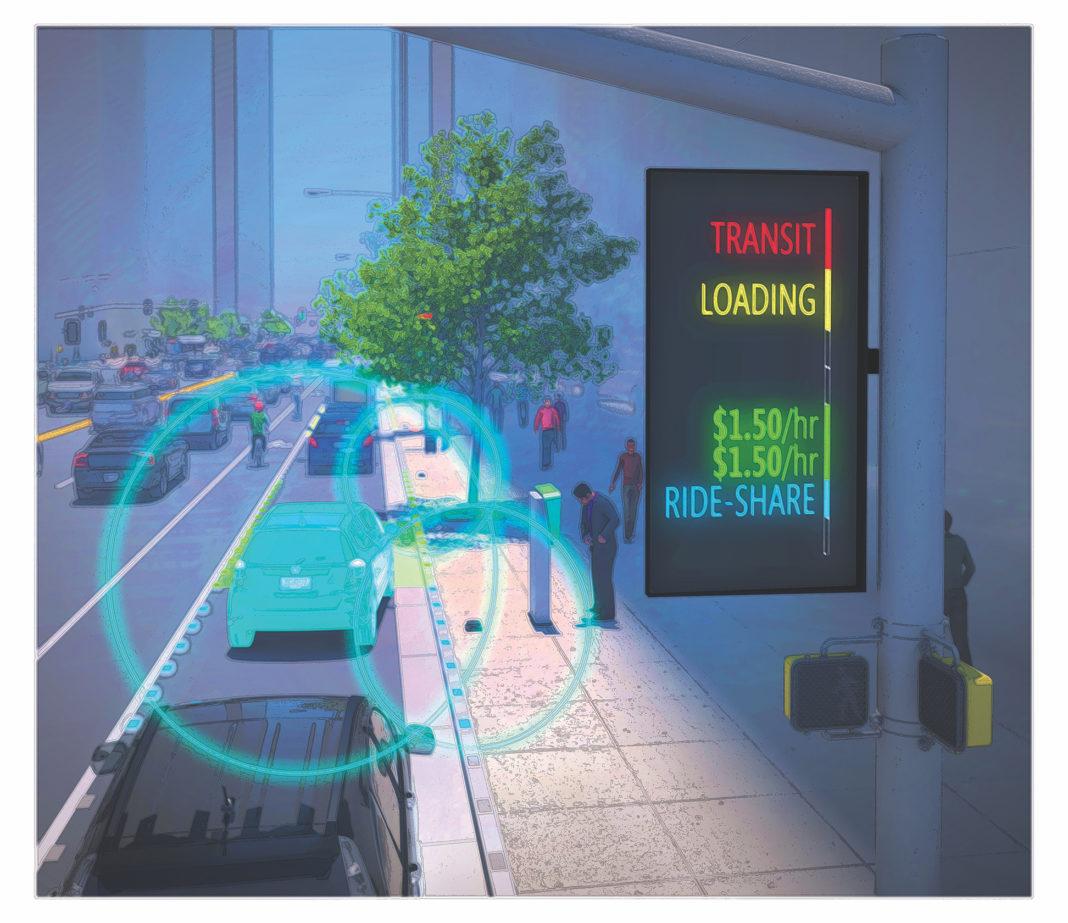 rendering of smart city street