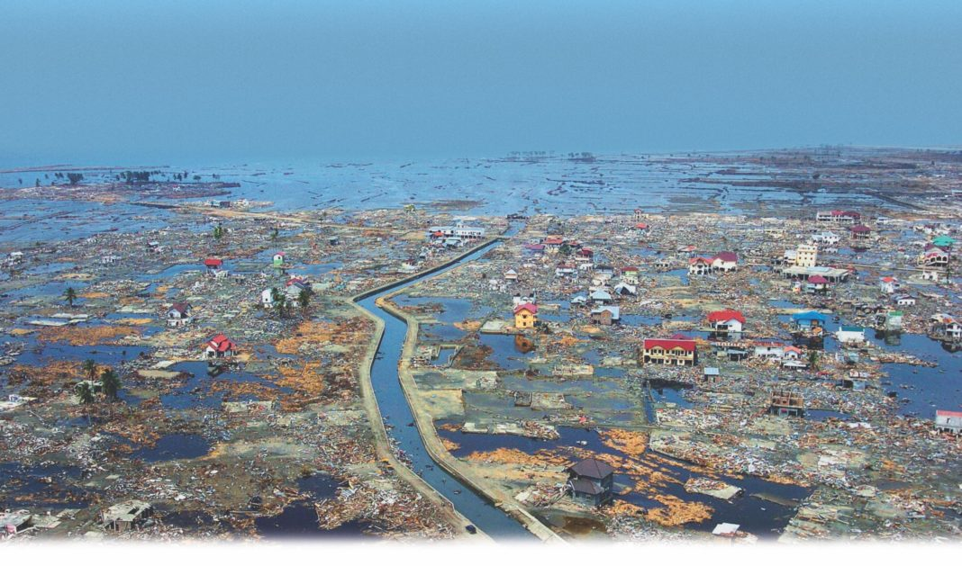 photo of devastation after the Dec. 26, 2004, Indian Ocean tsunami