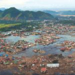a village on the island of Sumatra destroyed by a tsunami
