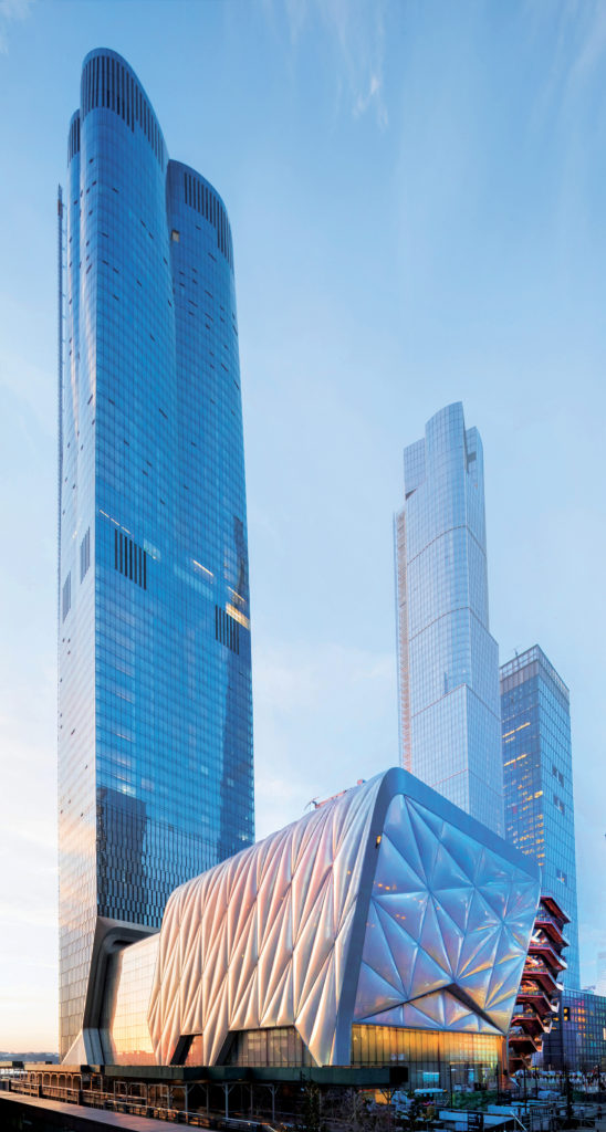 photo of the 88-story tall 15 Hudson Yards