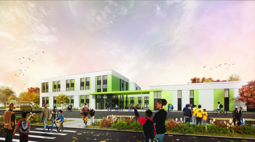 rendering of future school in Prince George's County, Maryland