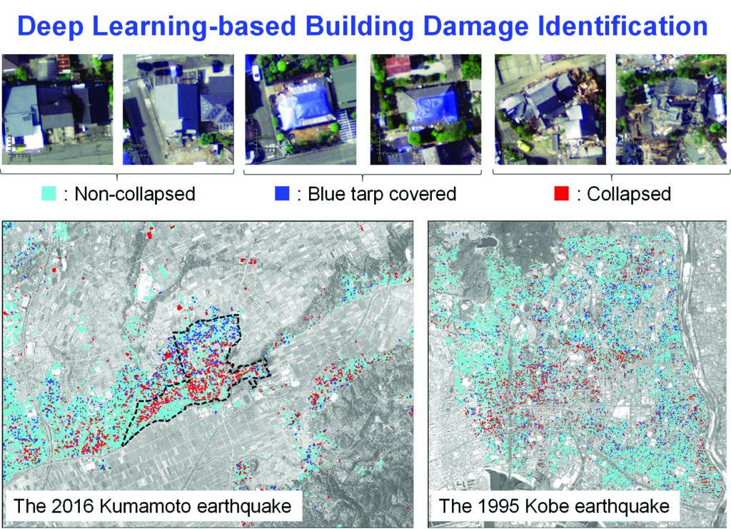 images showing deep learning-based building damage identification