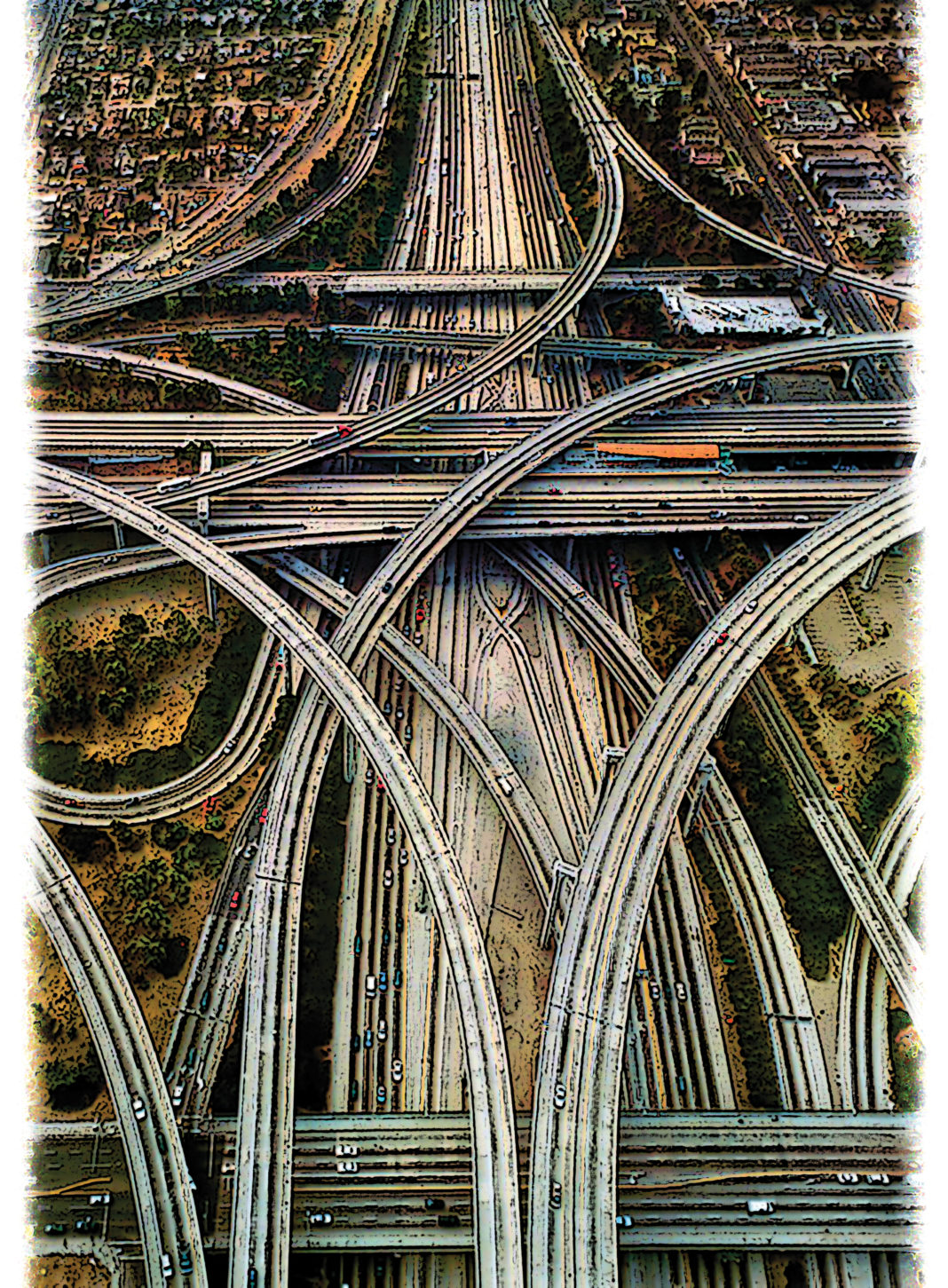 stylized view of a highway