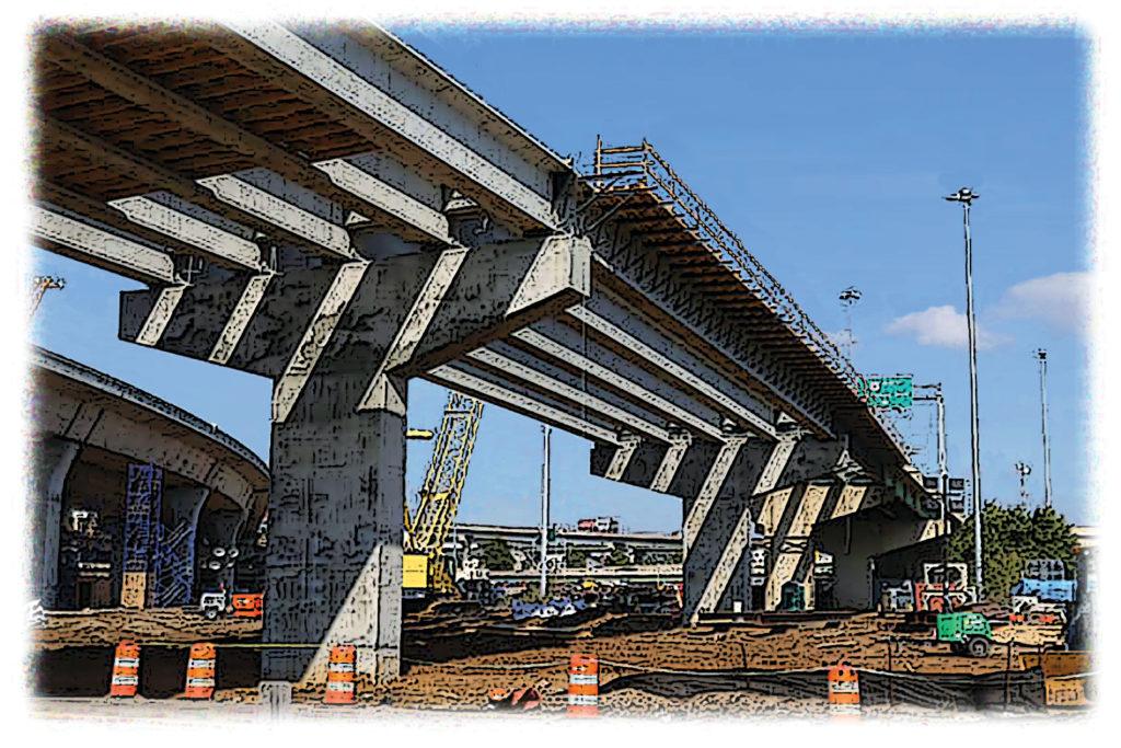 under construction span of an Alabama bridge