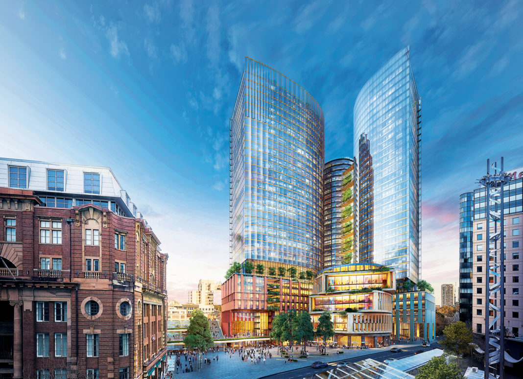 rendering of the new Central Place Sydney in Australia