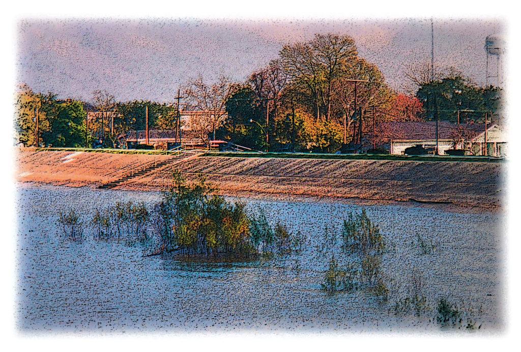 stylized levee photo