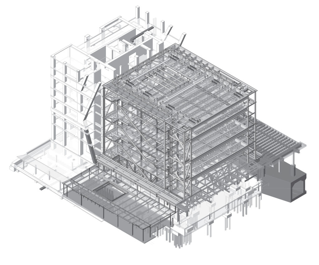 drawing shows the fixed building axonometric view