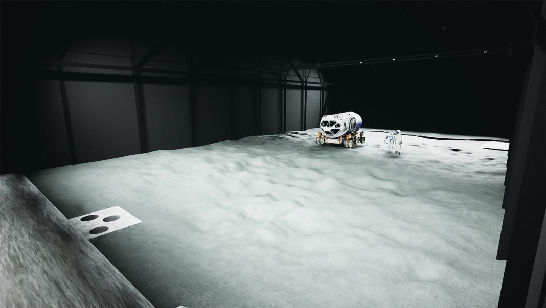 rendering of the new lunar test site in Europe